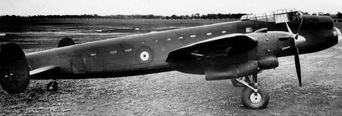 Бомбардировщик Avro Manchester I