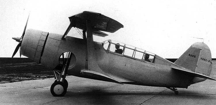 Палубный бомбардировщик Curtiss Helldiver XSBC-2
