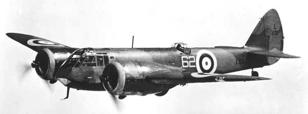 Бомбардировщик Bristol Blenheim Mk-I