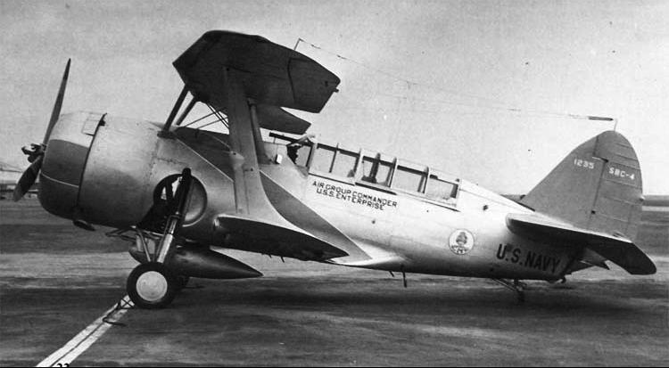 Палубный бомбардировщик Curtiss Helldiver SBC-4