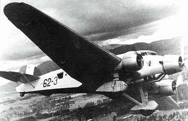 Транспортный самолет Savoia-Marchetti SM-81 Pipistrello