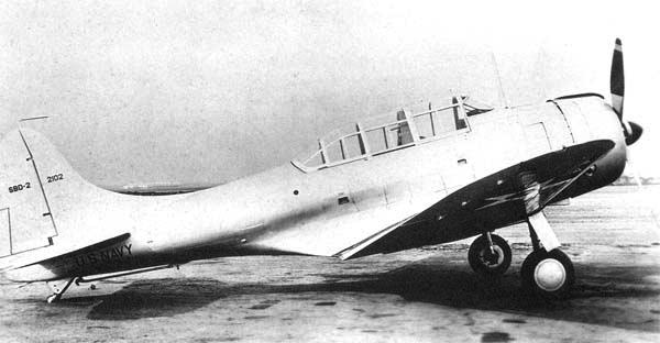 Палубный бомбардировщик Dauntless Douglas - SBD-2