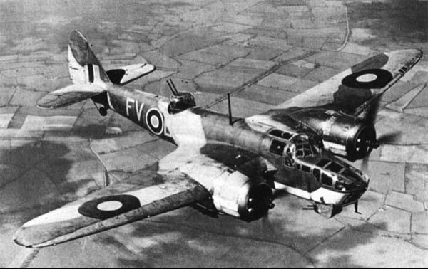 Бомбардировщик Bristol Blenheim Mk-IV