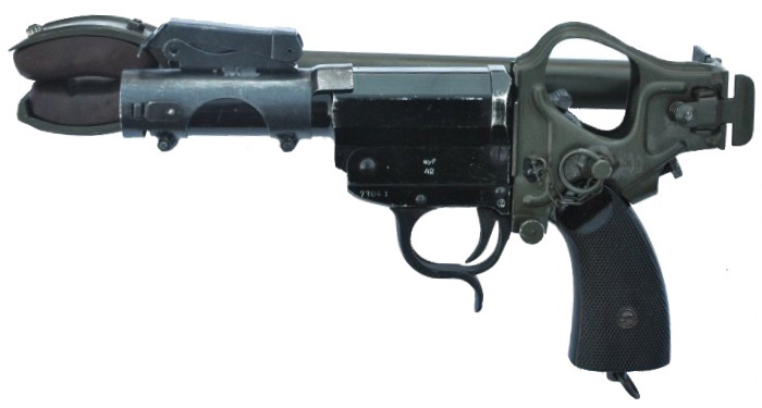 Kampfpistole со сложенным плечевым упором