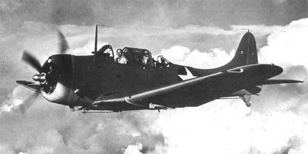 Палубный бомбардировщик Dauntless Douglas - SBD-4