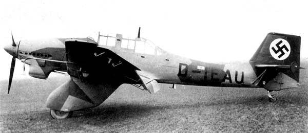 Бомбардировщик Junkers Ju 87-А