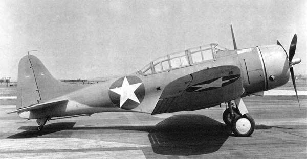 Палубный бомбардировщик Dauntless Douglas - SBD-5