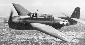 Палубный торпедоносец Grumman Avenger TBF-1