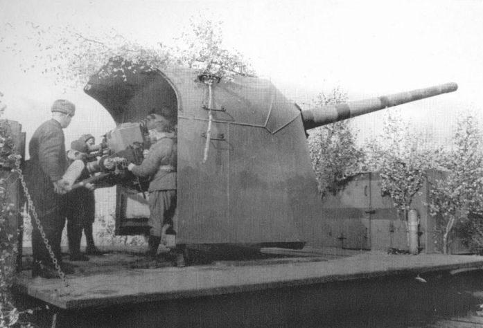 130-мм железнодорожная установка Б-57