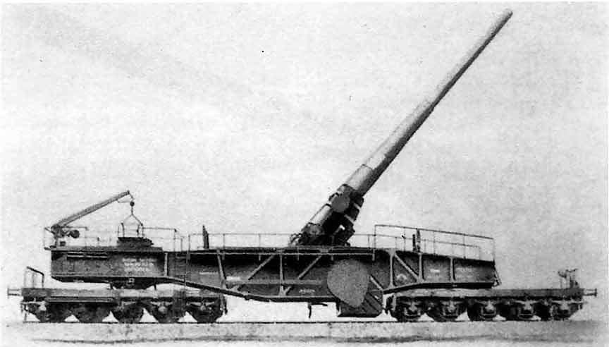 железнодорожное орудие  28-cm Neue Bruno