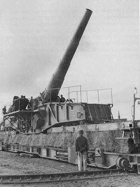 железнодорожное орудие 28-cm Schwere Bruno К(Е).