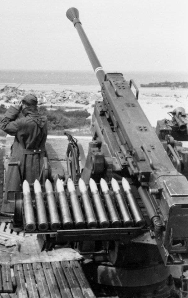 Стационарня установка 50-мм зенитной пушки FlaK-41