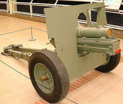 Горная гаубица QF-3.7 Inch со щитом на пневматическом ходу