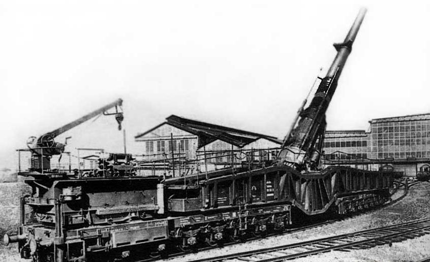 Железнодорожное орудие  38-cm «Siegfried» К (Е).