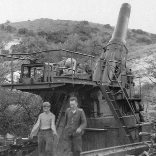 Тяжелая осадная гаубица 42-cm Gamma Mörser.