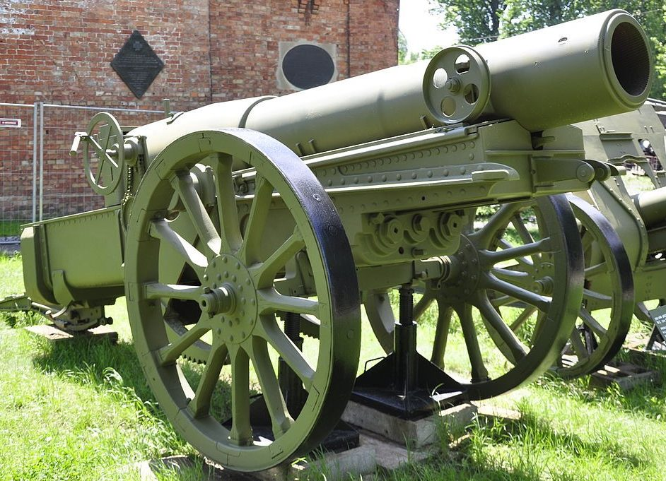 Осадная гаубица Mortier de 280 modèle 1914 Schneider