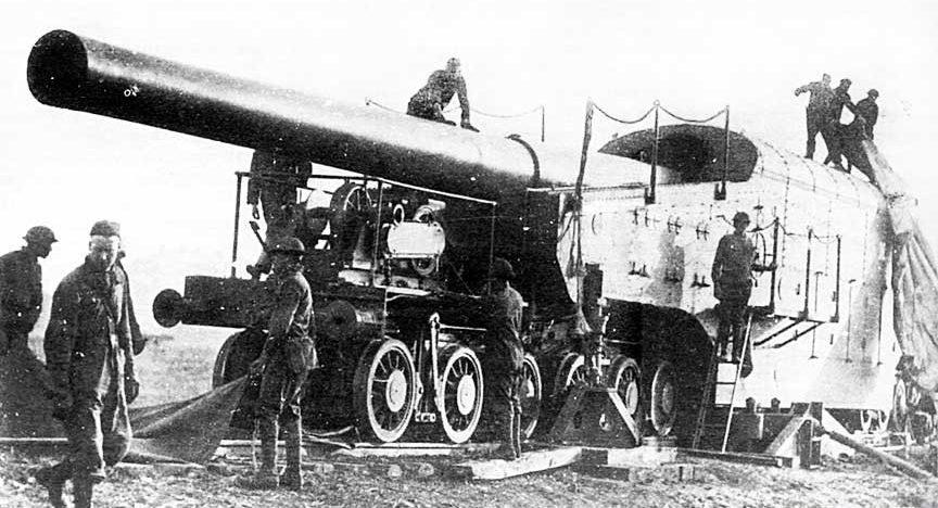 Железнодорожное орудие14 inch Mk-IV на платформе Mk-1