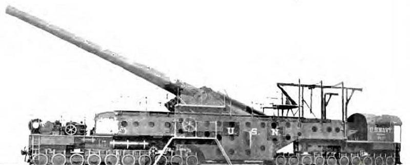 Железнодорожное орудие14 inch Mk-IV на платформе Mk-II