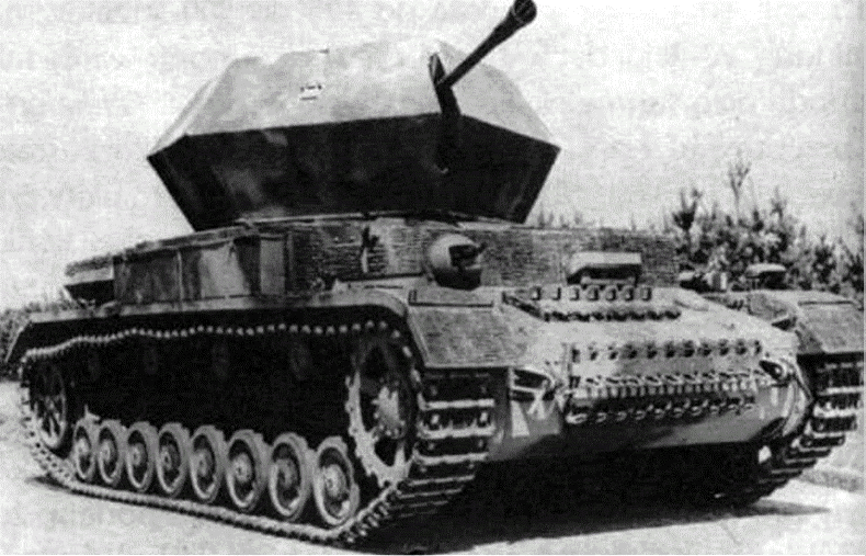 пушка 3,7-cm FlaK-37, установленная на шасси танка