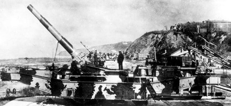 Железнодорожная артиллерийская установка ТМ-2-12 с 305-мм орудием