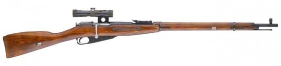Снайперская винтовка Мосина образца 1891/30 г. с оптическим прицелом ПУ.