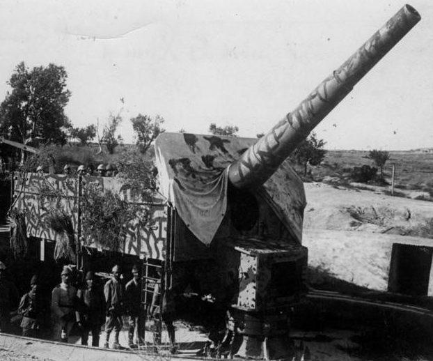 Орудие 21-cm/40 SK L/40. Одноорудийный береговой вариант