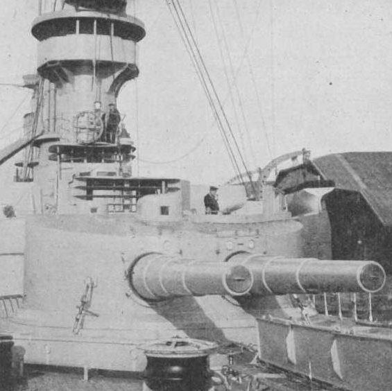 Орудие 21-cm/40 SK L/40. Двухорудийный корабельный вариант