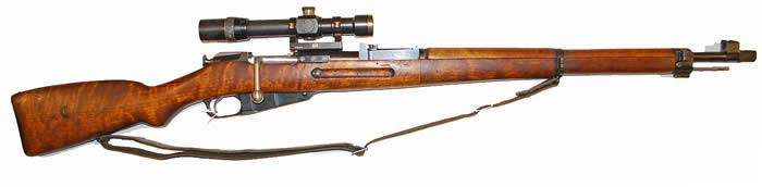 Винтовка M-39 РН с оптическим прицелом.
