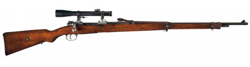Винтовка Mauser Gew. 98 с оптическим прицелом.