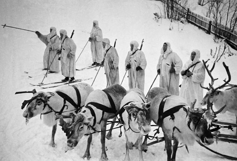 Финский лыжный отряд.1939 г.