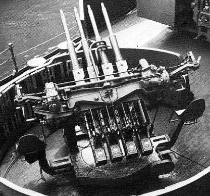 """Зенитная 28-мм установка (1,1""""/ 75) «Чикагское пианино»"""