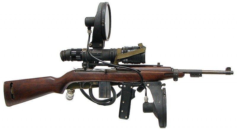 Снайперский карабин М-3 Carbine с ночным прицелом.