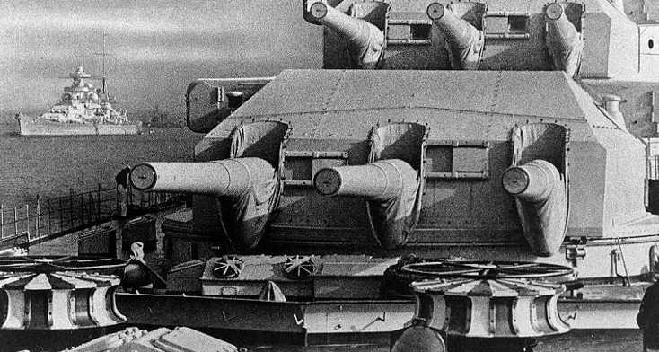 Орудие 28-cm SK C/34 корабельный вариант