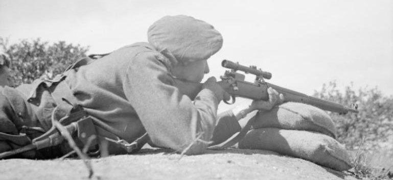Учебные стрельбы на курсах снайперов.