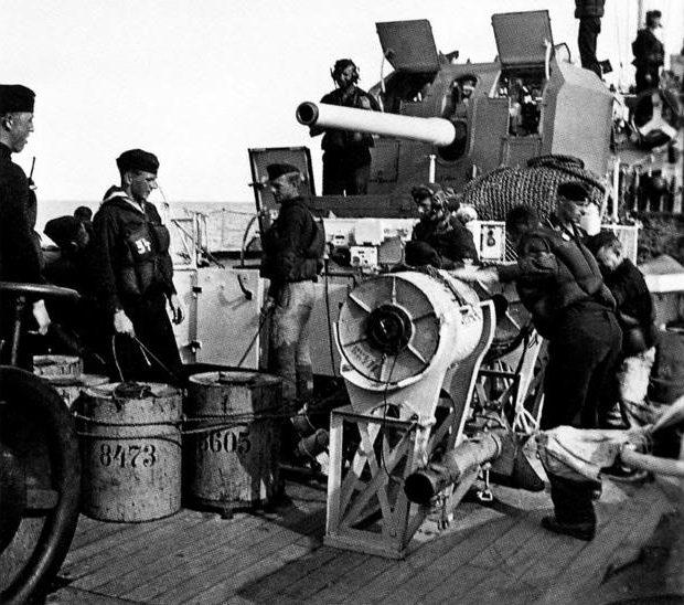 корабельное орудие 12.7-cm SK C/34