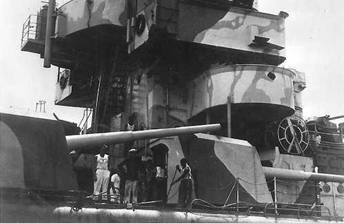 корабельное орудие 15-cm/55 SK C/28 в одноорудийной башне