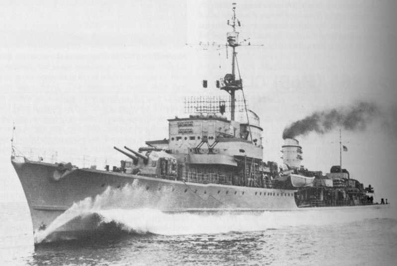 Корабельное орудие 15-cm/48 SK C/36 в двухорудийной башне на эсминце Z-39