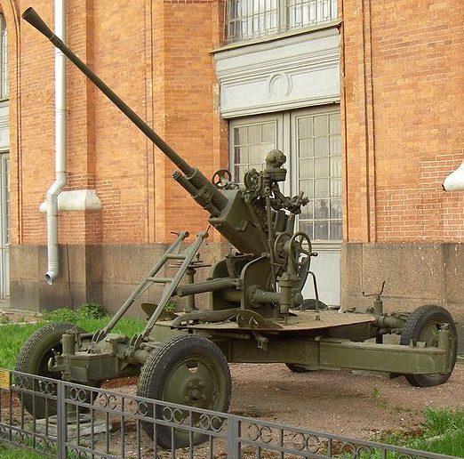 Зенитная пушка 61-К без щита