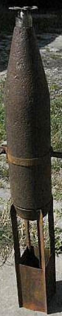 Осколочная бомба АО-10-6,5сг переделанная из снаряда калибра 76 мм