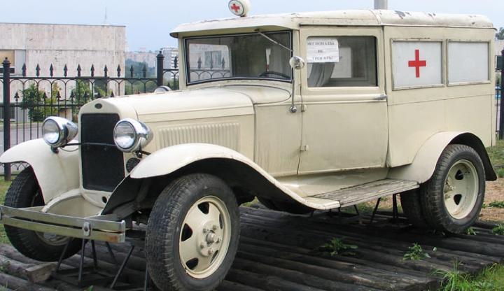 Санитарная машина  ГАЗ-55 (М-55) довоенного выпуска