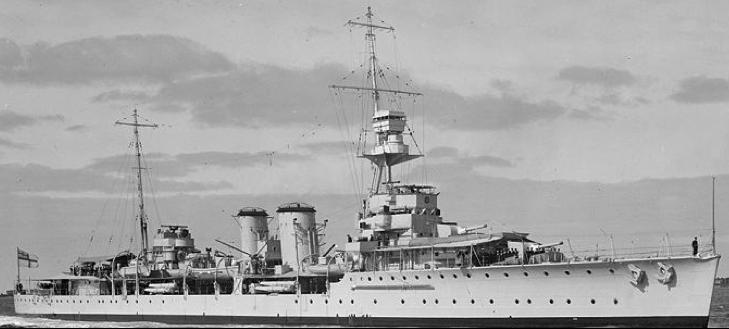 Легкий крейсер «Conrad» («Danae» D-44)