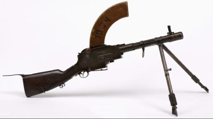 Ручной пулемет Madsen с укороченным стволом