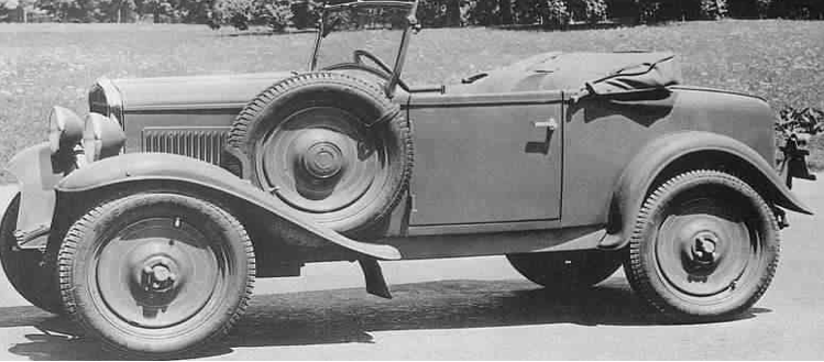 Автомобиль Fiat 508-М Spider militare (Balilla)