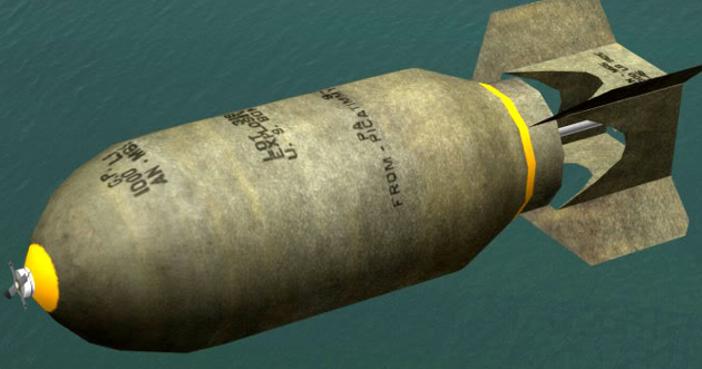 Рисунок бронебойной бомбы AN-Mk33