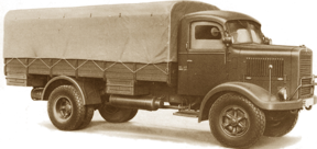Бортовой грузовик Isotta-Fraschini D-80 COM с тентом