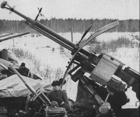 ДШК-38 в зенитной установке на бронепоезде