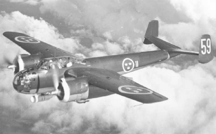 Бомбардировщик Saab  B-18A