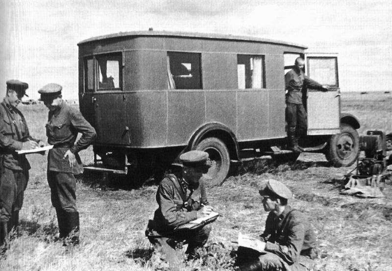 Штабной автобус на базе ЗиС-5