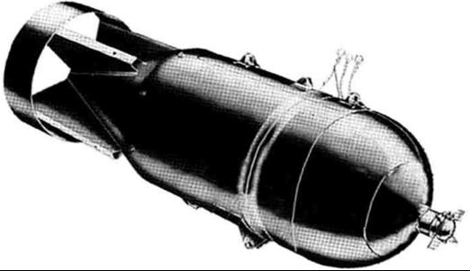 Рисунок противолодочной бомбы AN-Mk-17 Mod 2