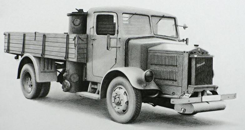 Tatra 27-А с газогенераторной установкой